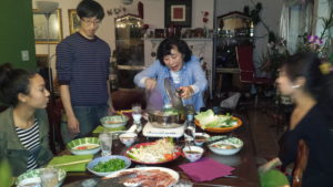 family dinner, food, hot pot, rutabaga, chinese food, culture