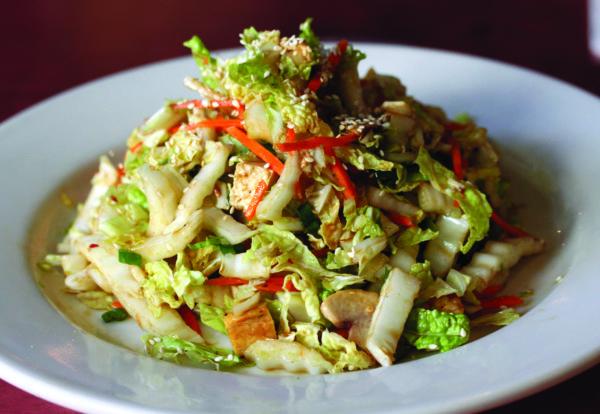 asian salad, cabbage, slaw