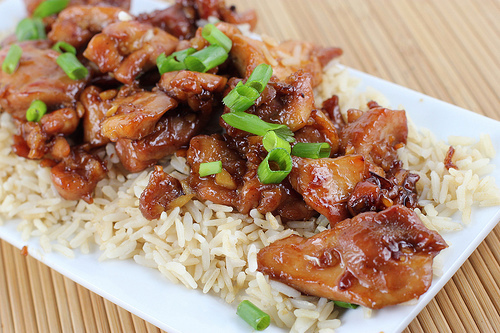 sesame teriyaki chicken stir fry