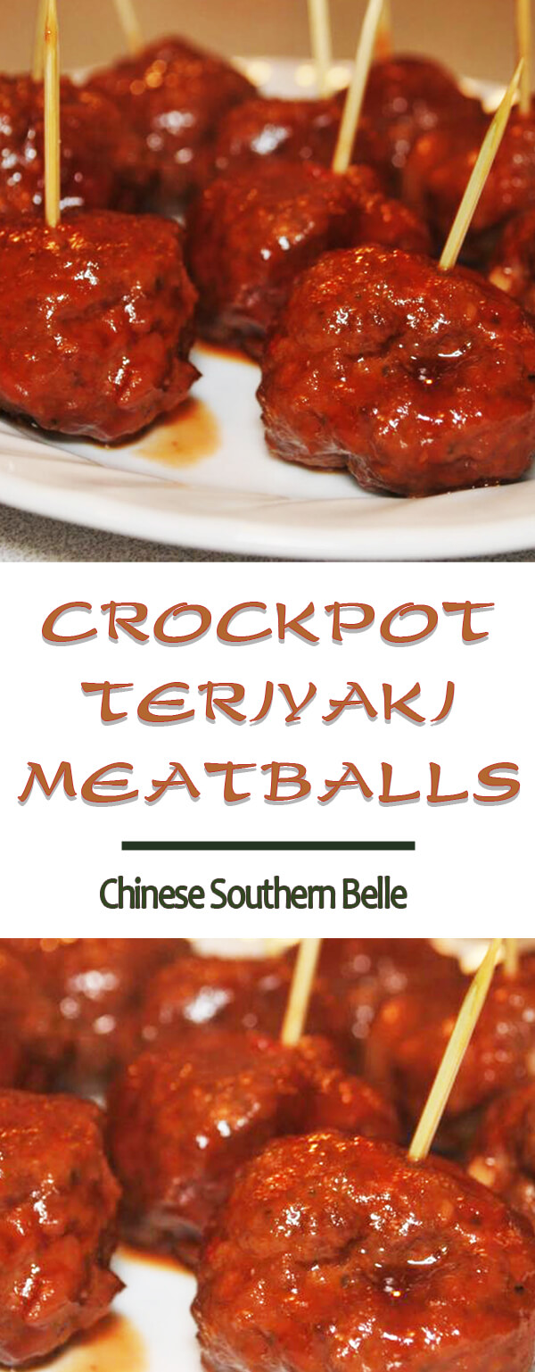 easy recipe crock pot teriyaki meatballs chinese southern belle. Black Bedroom Furniture Sets. Home Design Ideas