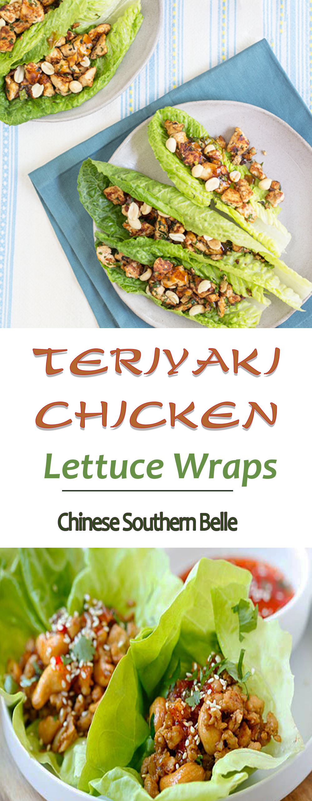 You don't have to go out to a fancy restaurant to enjoy authentic Asian low-carb lettuce wraps! Try my PF Chang's copycat recipe for Teriyaki Chicken Lettuce Wraps. Let your taste buds set sail on these boats of nutrients! #easyappetizers #under30minutes #healthyrecipes #teriyakichicken #summerappetizers