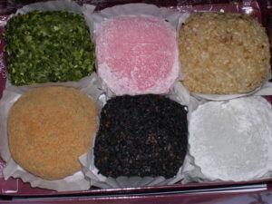 sticky sweet rice mochi balls