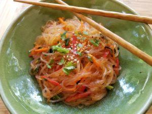 noodles, cellophane or glass