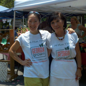 Natalie and her mother, Margaret sell their award-winning sauces and do healthy cooking demos at local farmers markets